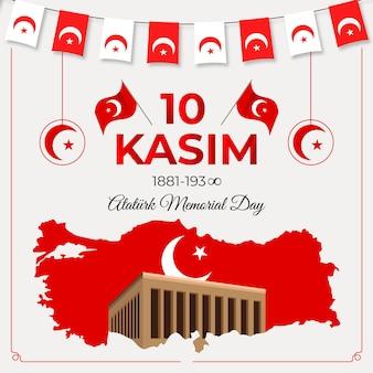 Design piatto ataturk memorial day