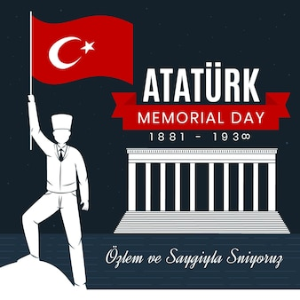 Design piatto ataturk memorial day