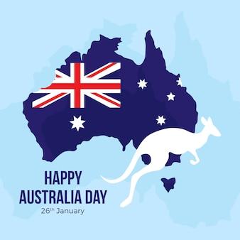 Concetto di design piatto giorno australia Vettore Premium