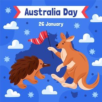 Illustrazione di giorno di design piatto australia