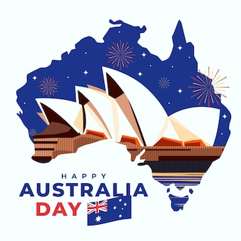 Design piatto australia day