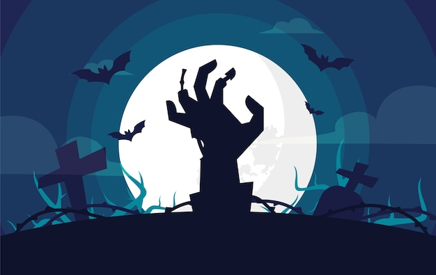 Sfondo design piatto per halloween