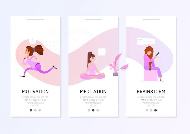 Design piatto banner freelance.