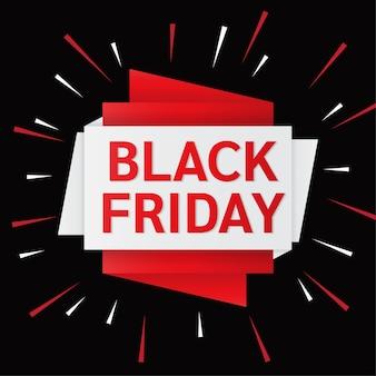 Concetto di banner design piatto venerdì nero