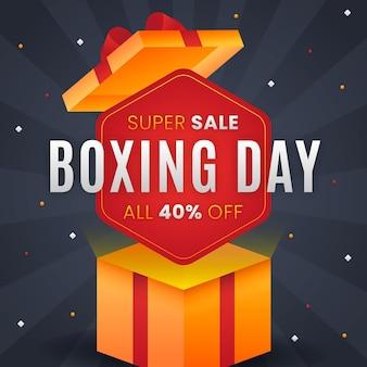 Vendita di boxe day design piatto