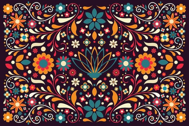 Sfondo messicano colorato design piatto