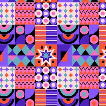 Motivo a mosaico colorato design piatto