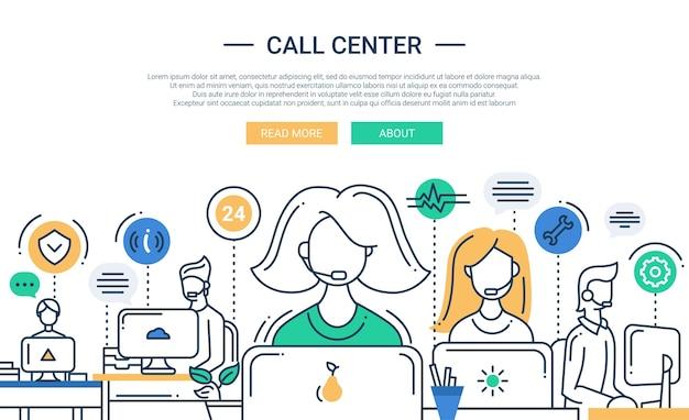 Composizione design piatto con supporto call center