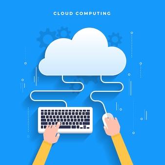 Concetto di design piatto cloud computing