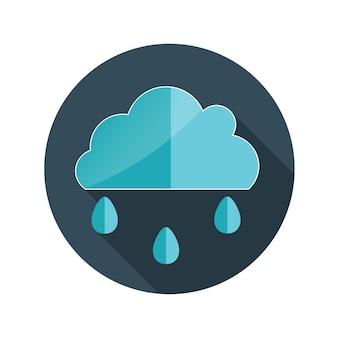 Illustrazione piana di vettore della nuvola di concetto di design con ombra lunga. eps10