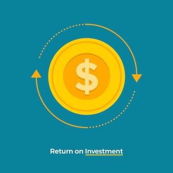 Concetto di design piatto ritorno sull'investimento