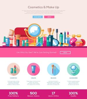 Illustrazione di cosmetici design piatto