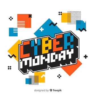 Design piatto cyber lunedì sfondo Vettore Premium