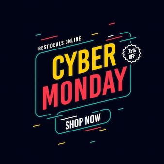 Sfondo di cyber lunedì design piatto