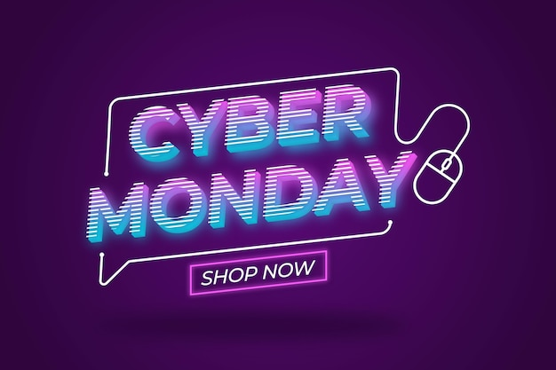 Sfondo di vendite di cyber lunedì design piatto