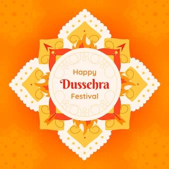Dussehra design piatto Vettore Premium