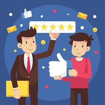 Concetto di feedback design piatto