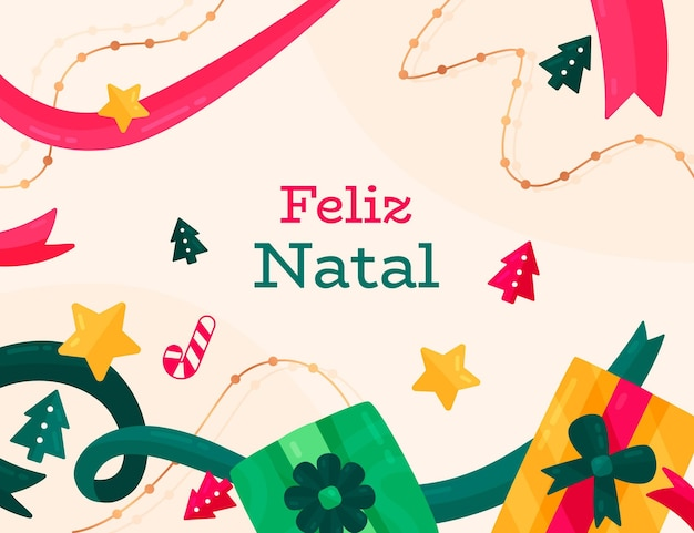 Design piatto feliz natal