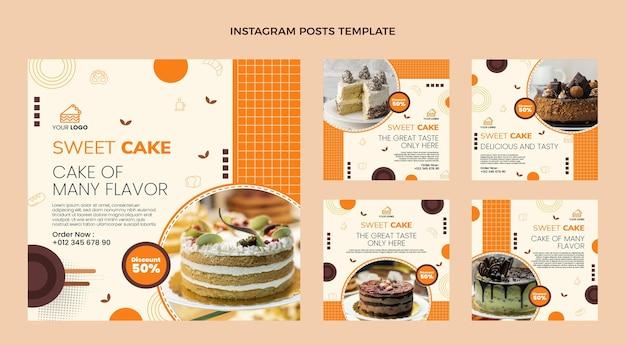Post di instagram cibo design piatto