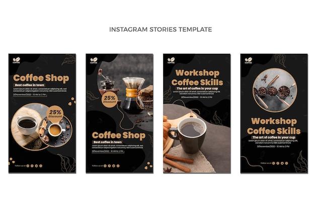 Design piatto di storie di cibo instagram