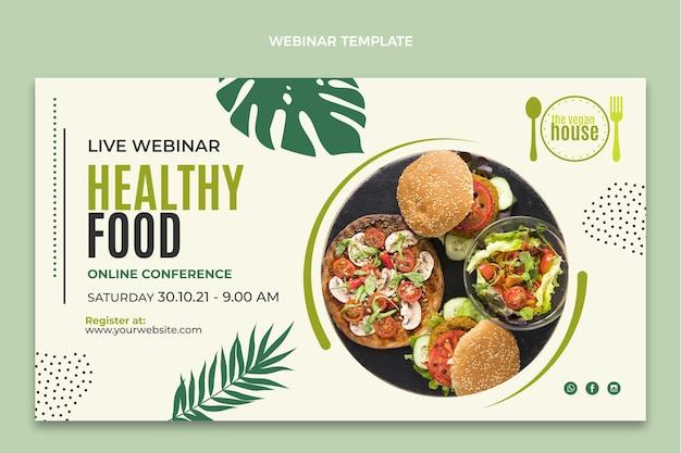 Modello di webinar sul cibo dal design piatto