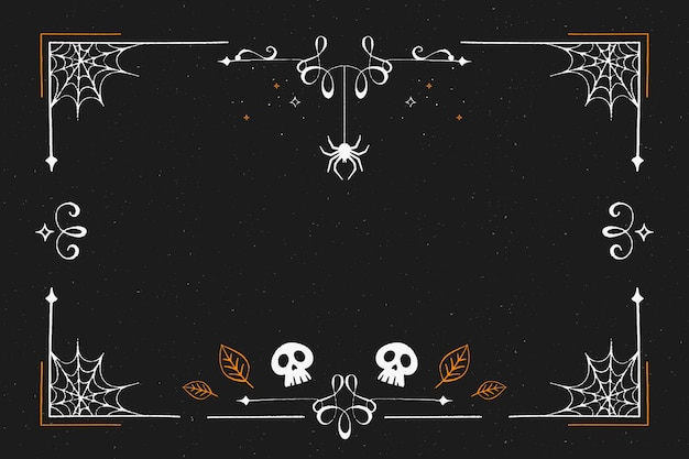 Cornice di halloween design piatto