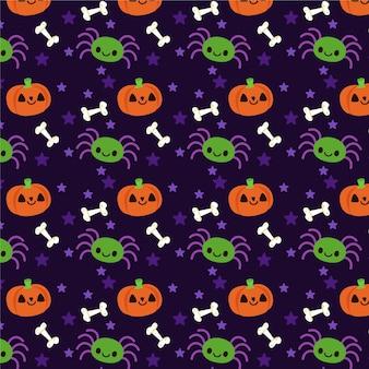 Modello di halloween design piatto