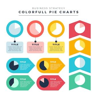 Infografica diagrammi a sfera harvey design piatto