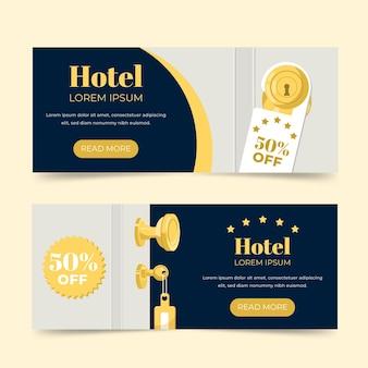 Modello di banner hotel design piatto