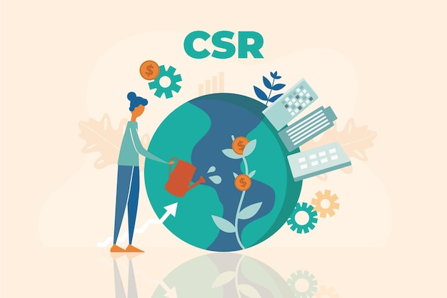 Design piatto illustrato concetto csr