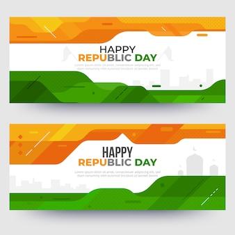 Modello di banner giorno repubblica indiana design piatto