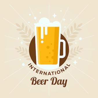 Concetto di giornata internazionale della birra design piatto