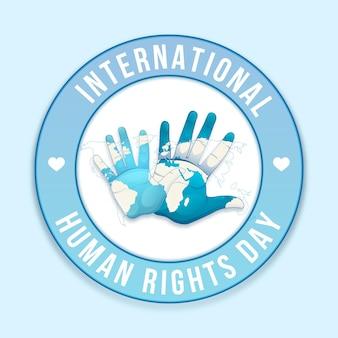 Illustrazione della giornata internazionale dei diritti umani di design piatto
