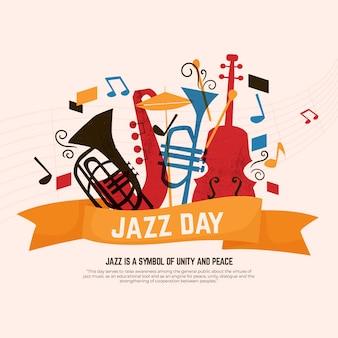 Celebrazione della giornata internazionale del jazz design piatto