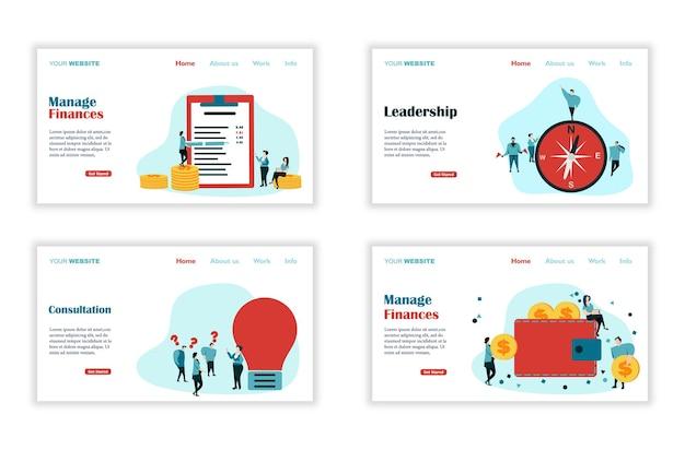 Modello di pagina di destinazione design piatto