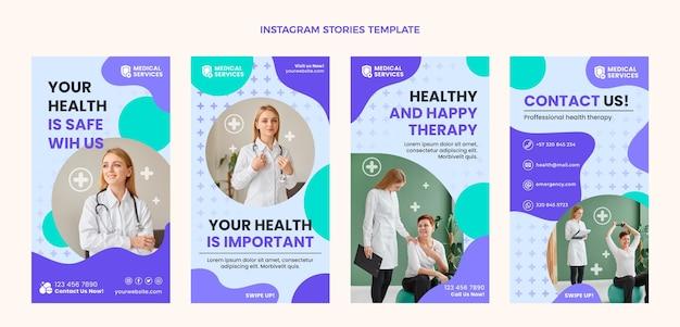 Storie di instagram mediche dal design piatto