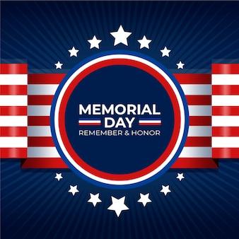 Concetto di memorial day design piatto