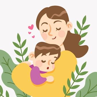 Design piatto concetto festa della mamma