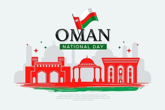 Giornata nazionale di design piatto dell'oman