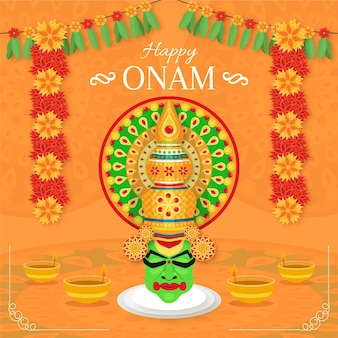 Concetto di evento onam design piatto