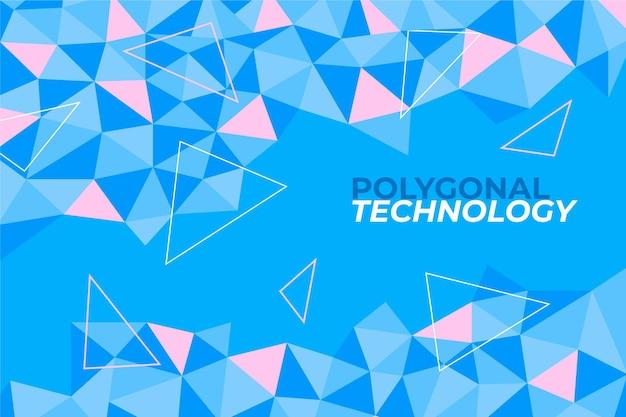 Fondo poligonale design piatto Vettore Premium
