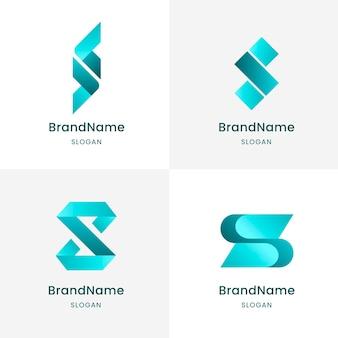 Collezione di modelli di logo design piatto s