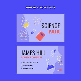 Biglietto da visita scientifico design piatto