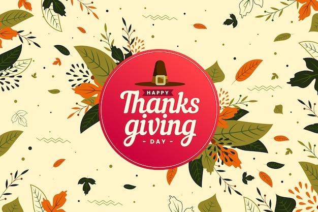 Sfondo di ringraziamento design piatto