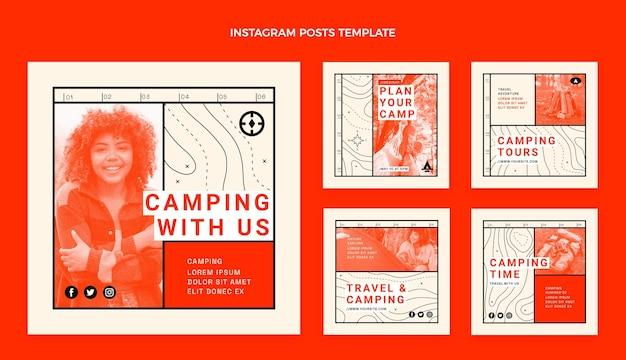 Post di instagram di viaggio design piatto