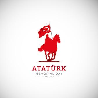 Modello di banner per il giorno dell'indipendenza della turchia design piatto