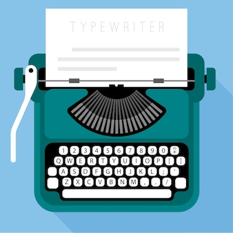 Modello di macchina da scrivere design piatto