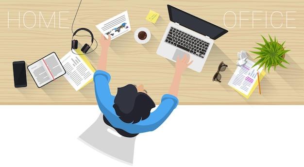 Concetto di pagina web design piatto per processo aziendale creativo e strategia aziendale
