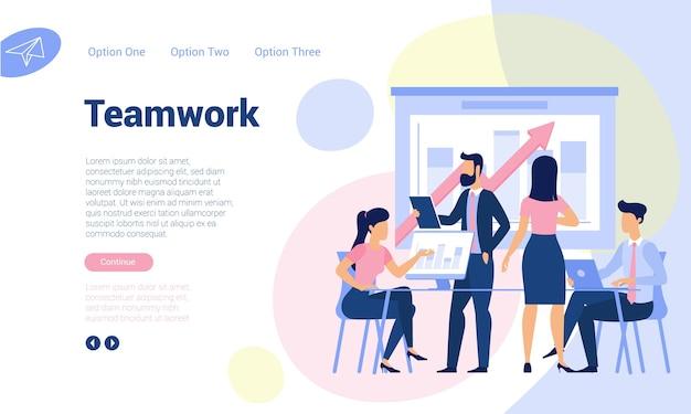 Modello di pagina web design piatto per analisi di big data, strategia aziendale e analisi. concetto di illustrazione alla moda per sito web e app mobile.