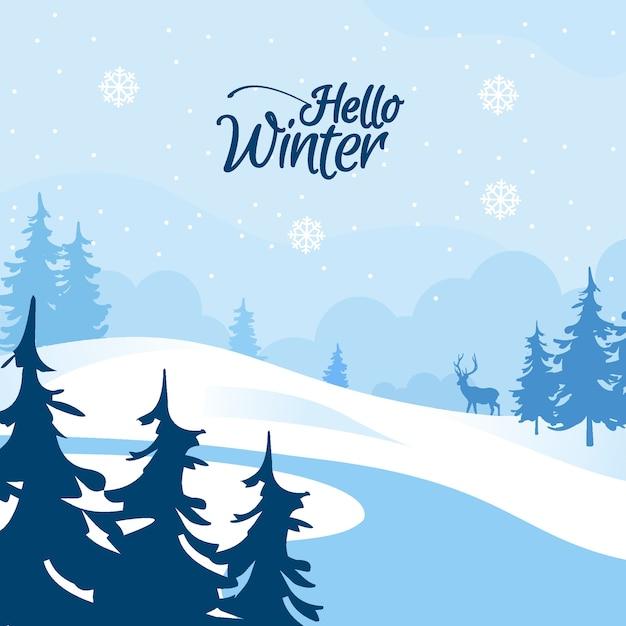 Inverno design piatto